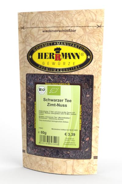 Schwarzer Tee Zimt-Nuss (BIO)