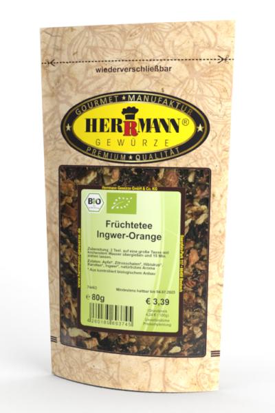 Früchtetee Ingwer-Orange (BIO)