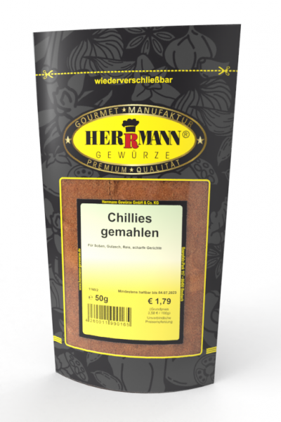 Chillies gemahlen