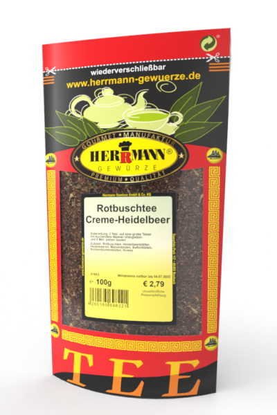 Rotbuschtee Creme-Heidelbeer
