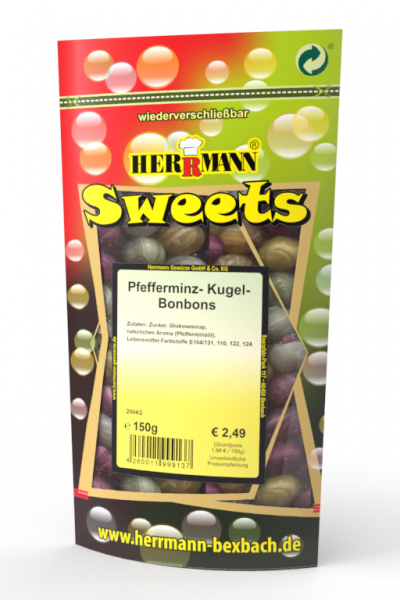 Pfefferminz-Kugel-Bonbons