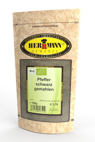 Pfeffer schwarz gemahlen (BIO)