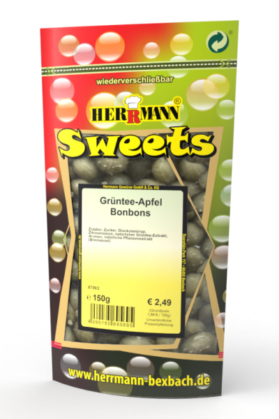 Grüntee-Apfel Bonbons