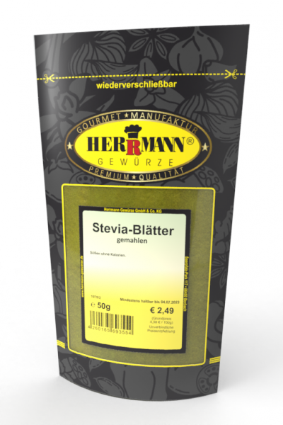 Stevia-Blätter gemahlen