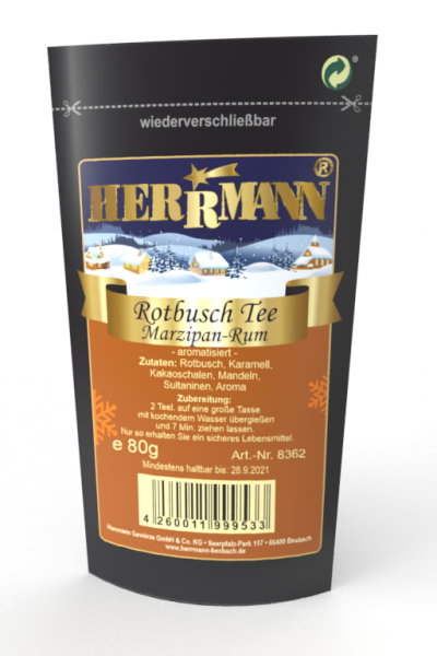 Rotbuschtee Marzipan-Rum