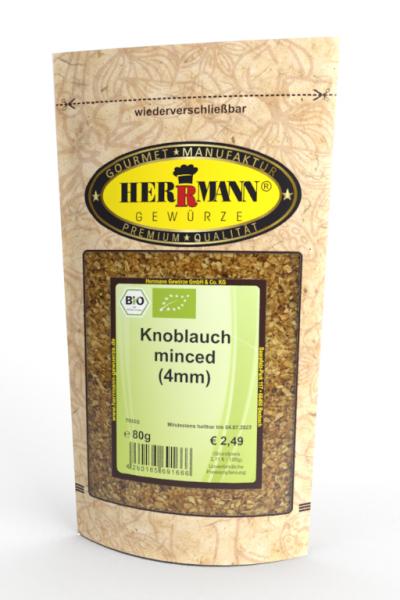 Knoblauch minced (4mm) (BIO)